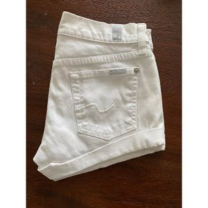 7 For All Mankind Roll Up Cuffed Shorts 25
